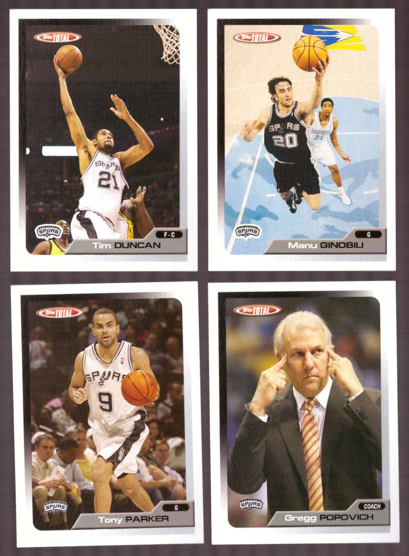 2005-06 Topps Total Basketball Team Set - San Antonio Spurs
