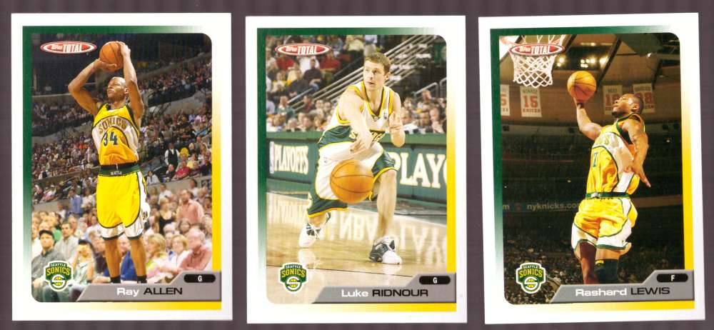 2005-06 Topps Total Basketball Team Set - Seattle Supersonics