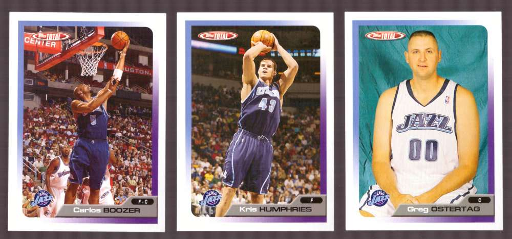 2005-06 Topps Total Basketball Team Set - Utah Jazz