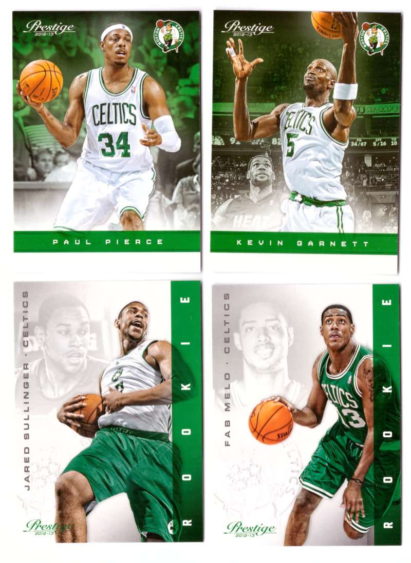 2012-13 Prestige (Panini) 1-250 Basketball Team Set - Boston Celtics