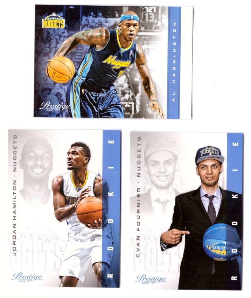 2012-13 Prestige (Panini) 1-250 Basketball Team Set - Denver Nuggets