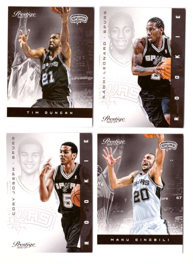 2012-13 Prestige (Panini) 1-250 Basketball Team Set - San Antonio Spurs