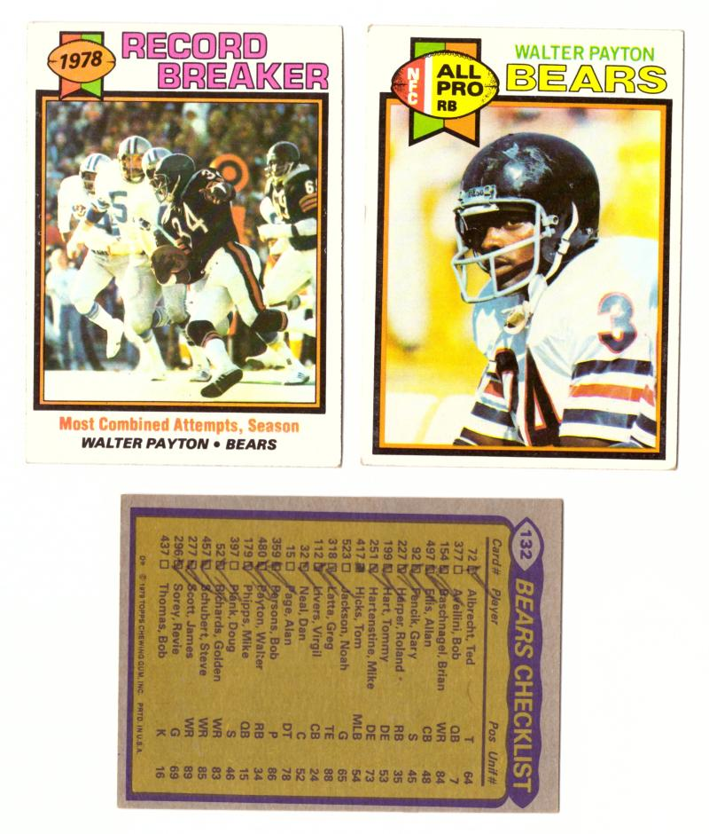 1979 Topps Football Team Set - CHICAGO BEARS (Checklist Marked)