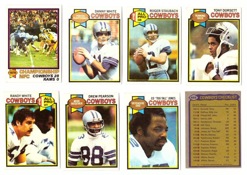 1979 Topps Football Team Set - DALLAS COWBOYS  (checklist marked)