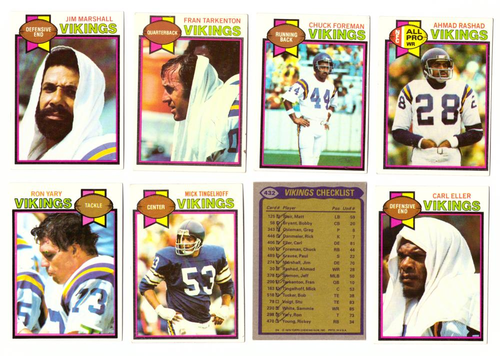 1979 Topps Football Team Set - MINNESOTA VIKINGS  (checklist marked)