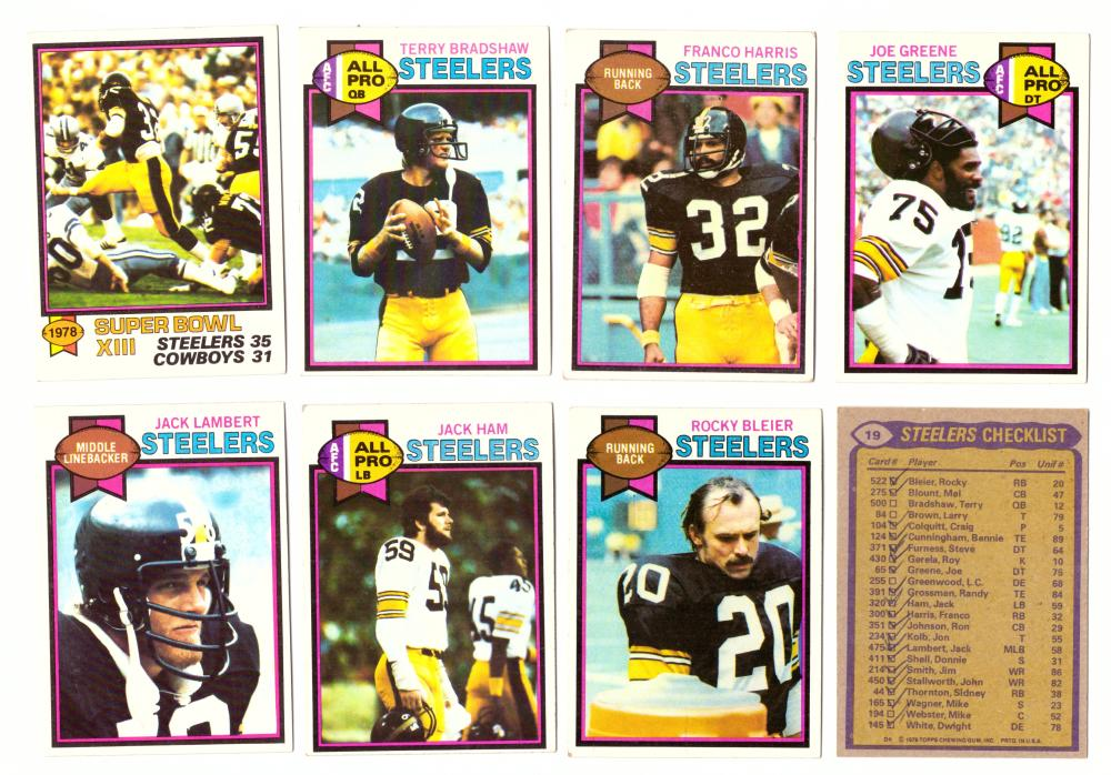 1979 Topps Football Team Set - PITTSBURGH STEELERS  (checklist marked) (B)