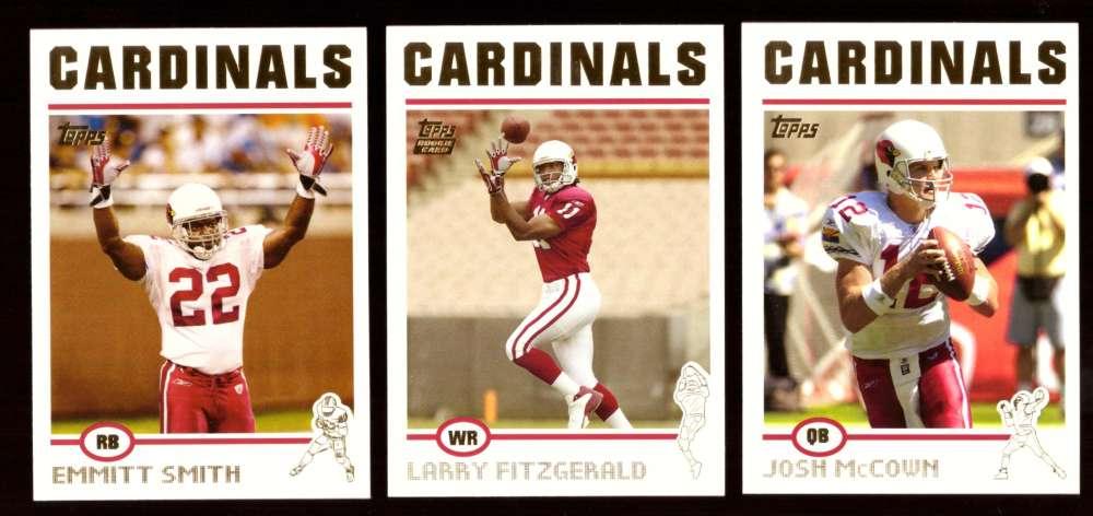 2004 Topps Gold Letter Football Team Set - ARIZONA CARDINALS  w/ Larry Fitzgerald RC