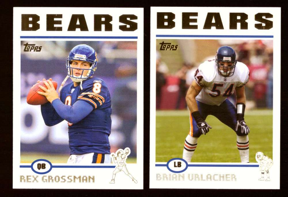 2004 Topps Gold Letter Football Team Set - CHICAGO BEARS