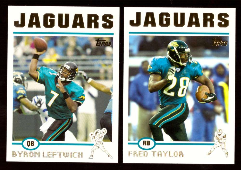 2004 Topps Football Gold Letter Team Set - JACKSONVILLE JAGUARS