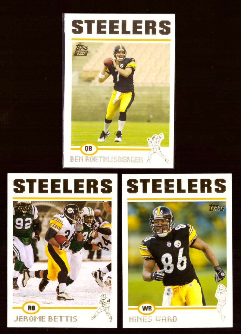 2004 Topps Gold Letter Football Team Set - PITTSBURGH STEELERS w/ Ben Roethlisberger RC