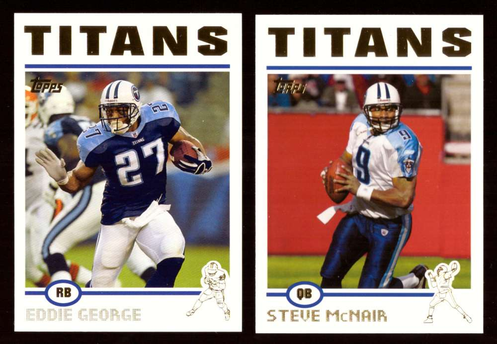 2004 Topps Gold Letter Football Team Set - TENNESSEE TITANS