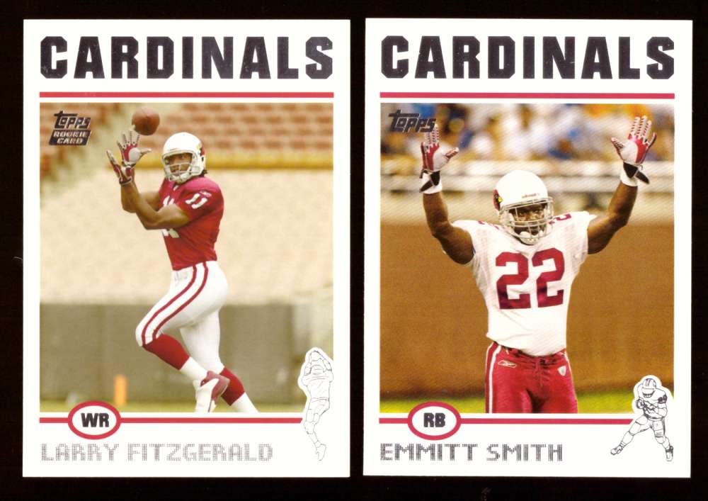 2004 Topps Silver Letter Football Team Set - ARIZONA CARDINALS  w/ Larry Fitzgerald RC