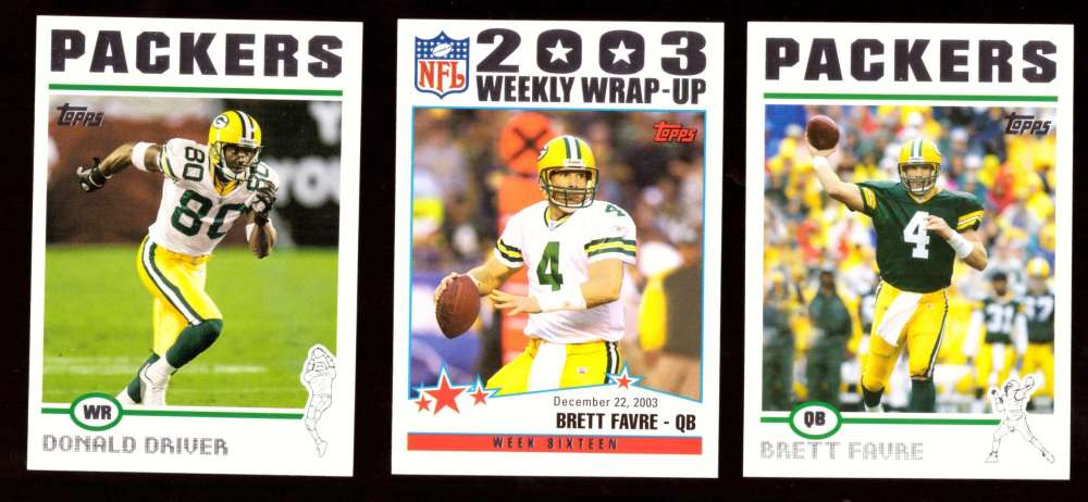 2004 Topps Silver Letter Football Team Set - GREEN BAY PACKERS