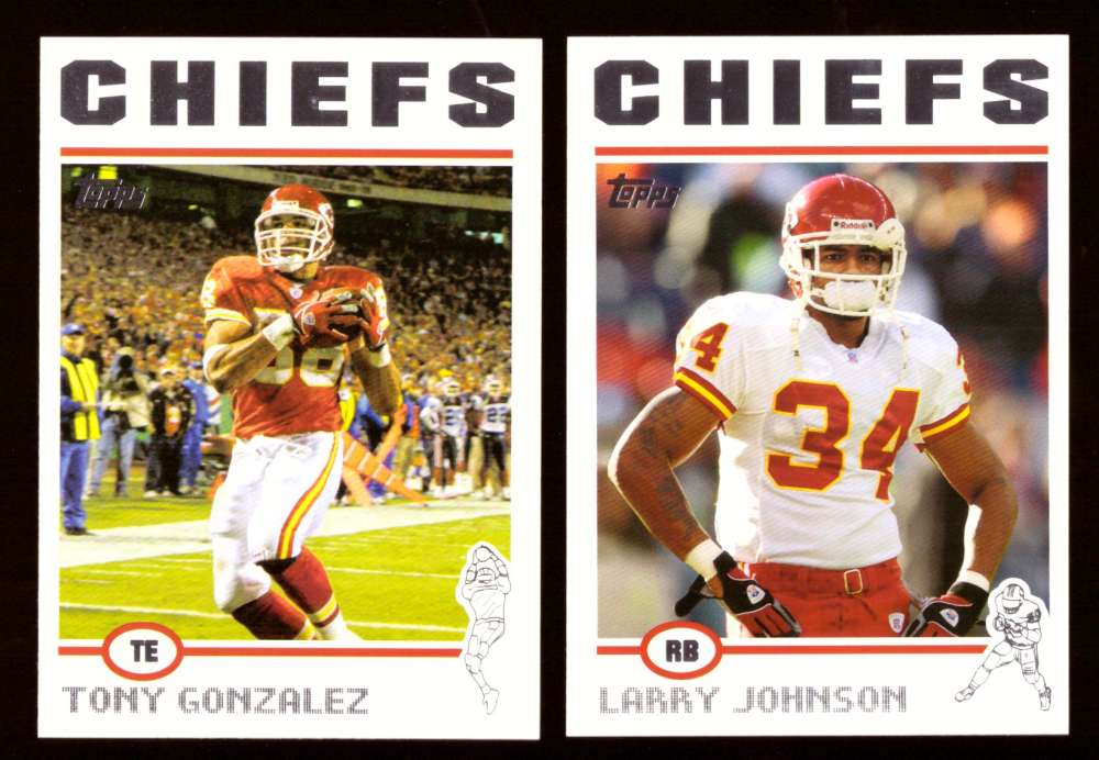 2004 Topps Silver Letter Football Team Set - KANSAS CITY CHIEFS