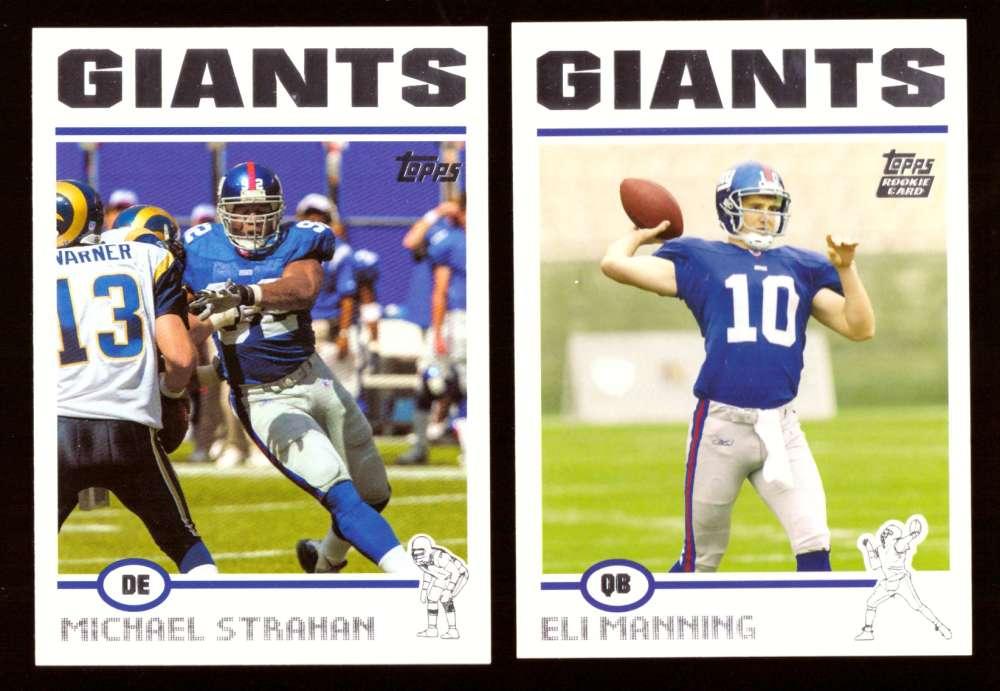 2004 Topps Football Silver Letter Team Set - NEW YORK GIANTS w/ ELI MANNING RC