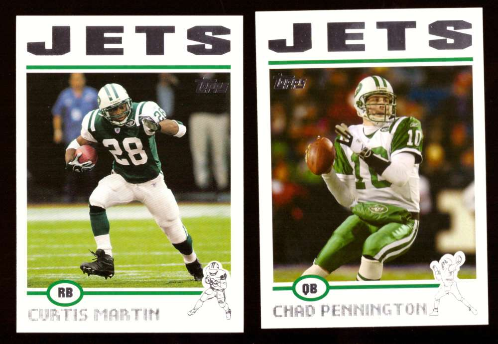 2004 Topps Silver Letter Football Team Set - NEW YORK JETS
