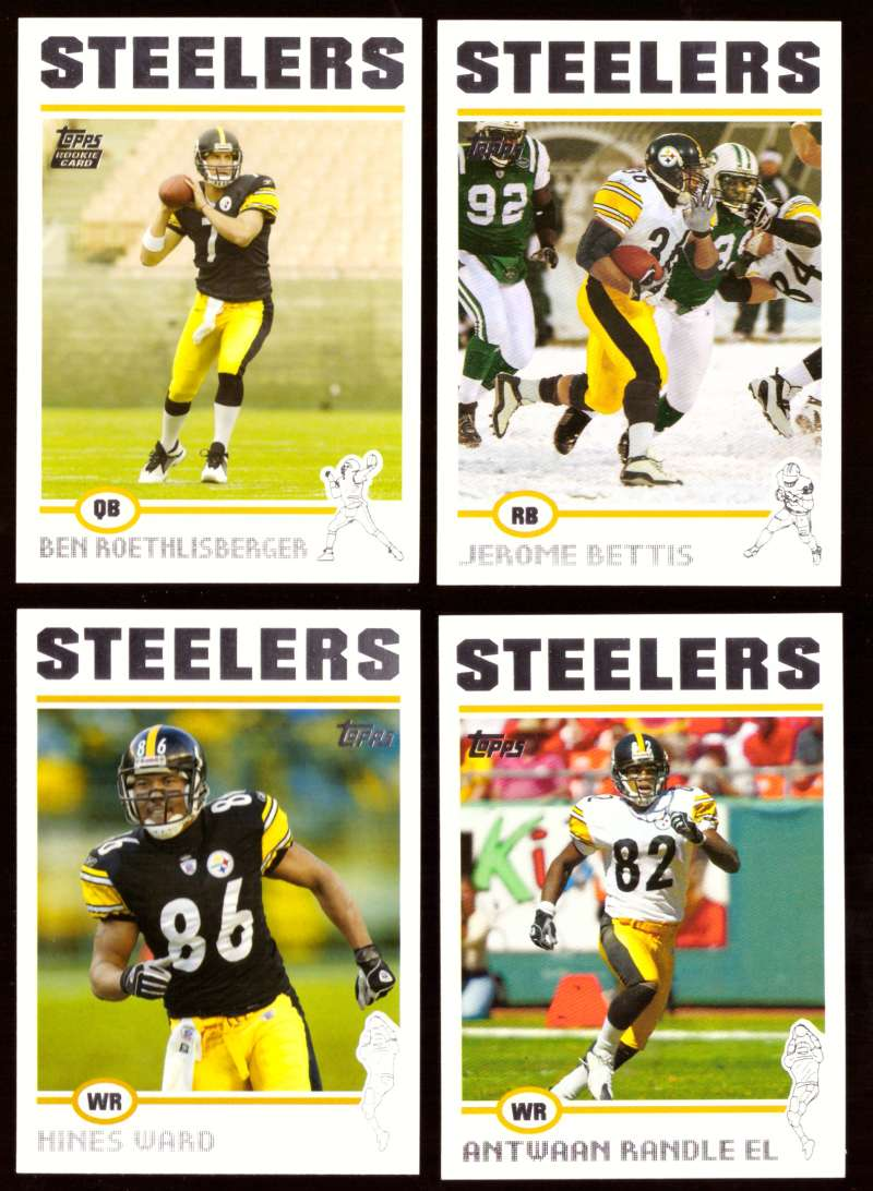 2004 Topps Silver Letter Football Team Set - PITTSBURGH STEELERS w/ Ben Roethlisberger RC