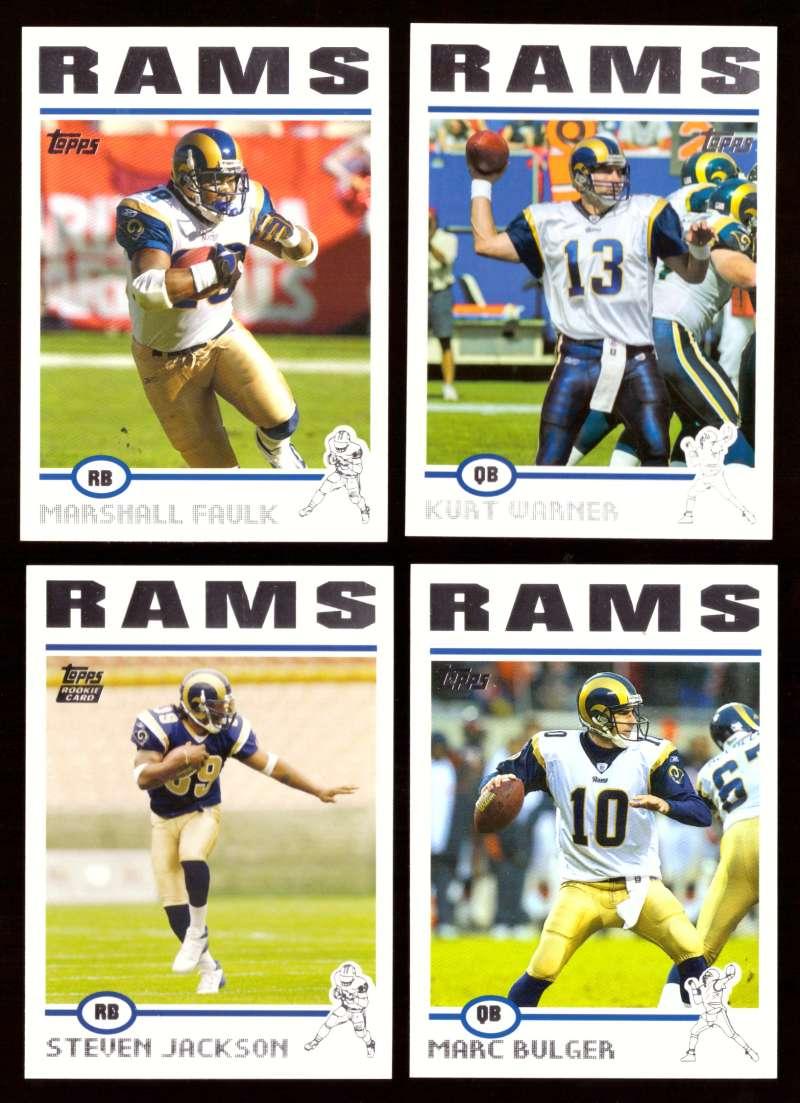 2004 Topps Silver Letter Football Team Set - ST. LOUIS RAMS