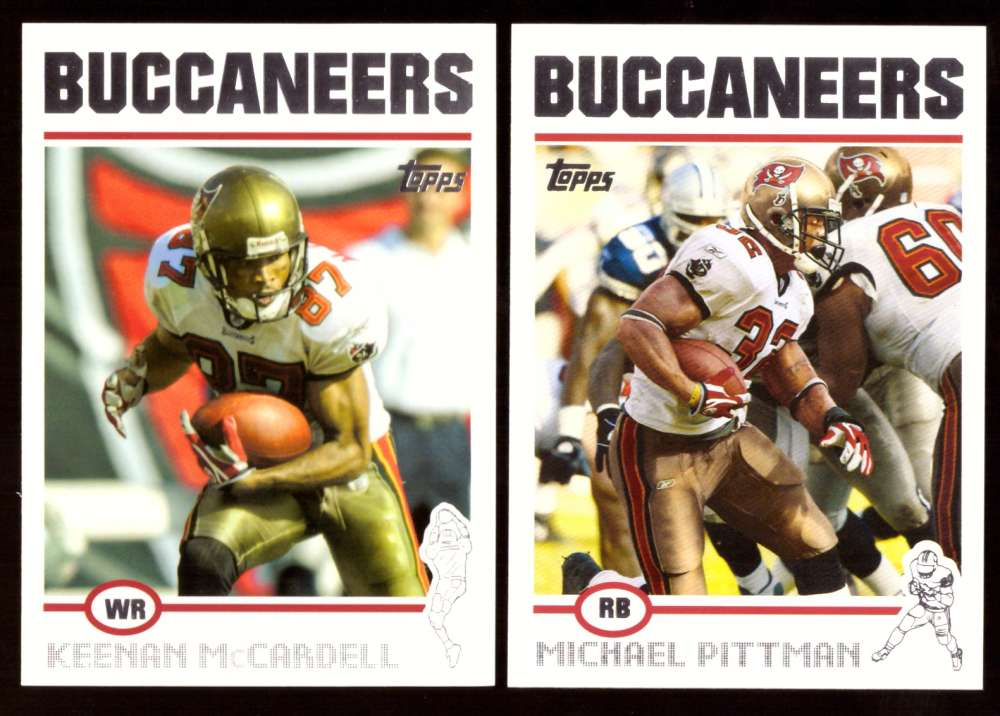 2004 Topps Silver Letter Football Team Set - TAMPA BAY BUCCANEERS