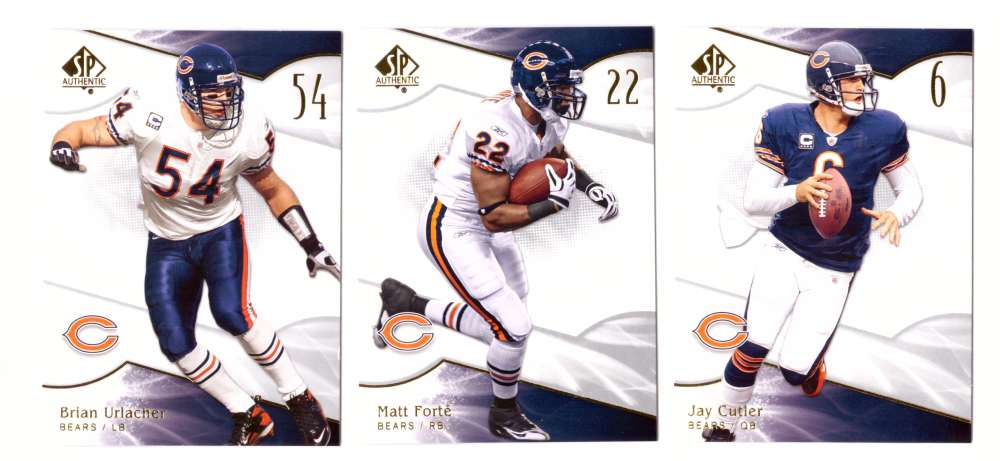 2009 SP Authentic Football (Base 1-100) - CHICAGO BEARS