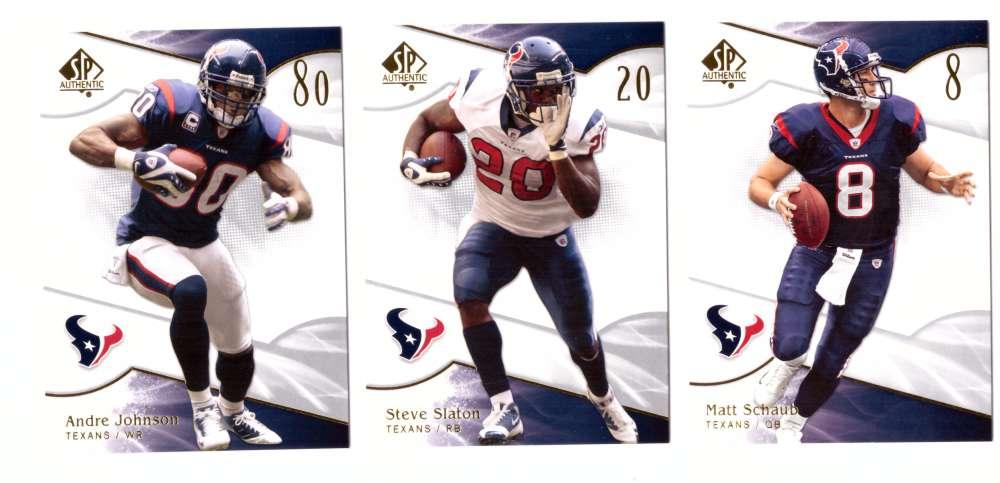 2009 SP Authentic Football (Base 1-100) - HOUSTON TEXANS