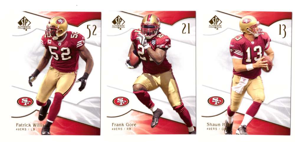 2009 SP Authentic Football (Base 1-100) - SAN FRANCISCO 49ERS