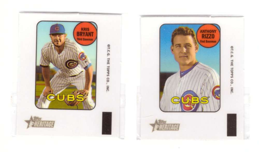 2018 Topps Heritage '69 Decals - CHICAGO CUBS