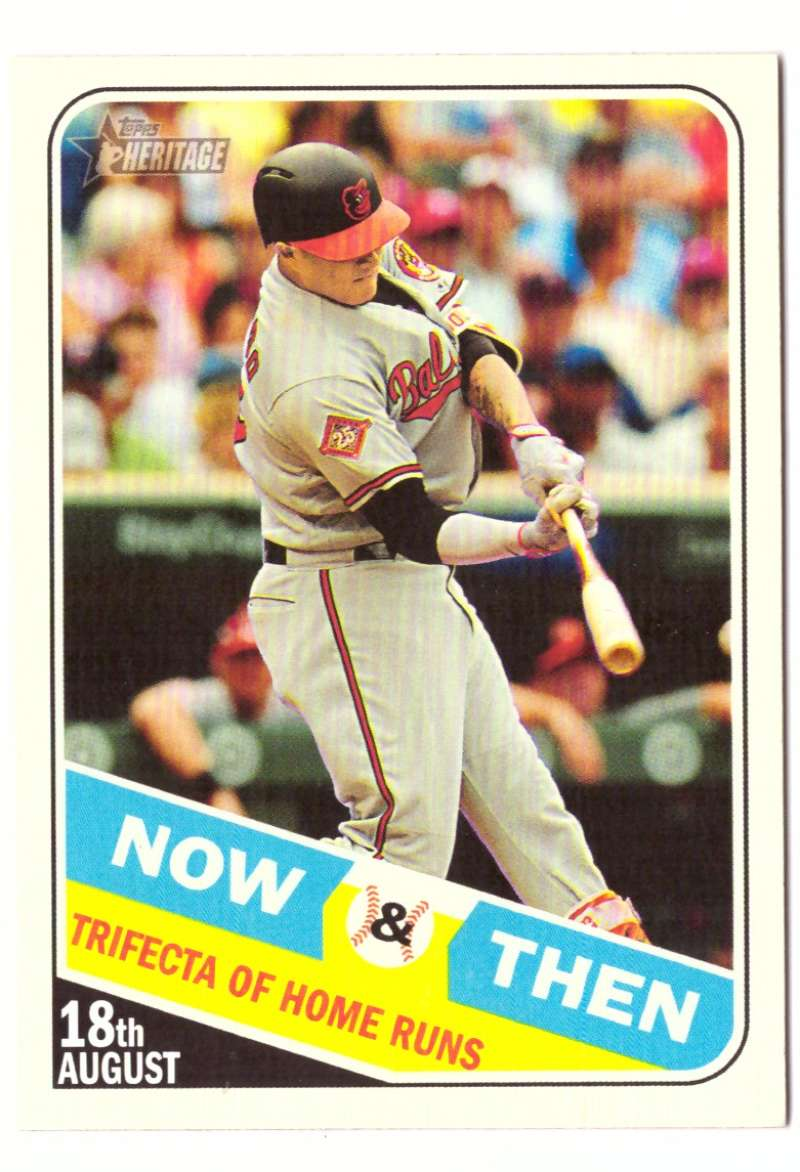 2018 Topps Heritage High Number Now and Then - BALTIMORE ORIOLES