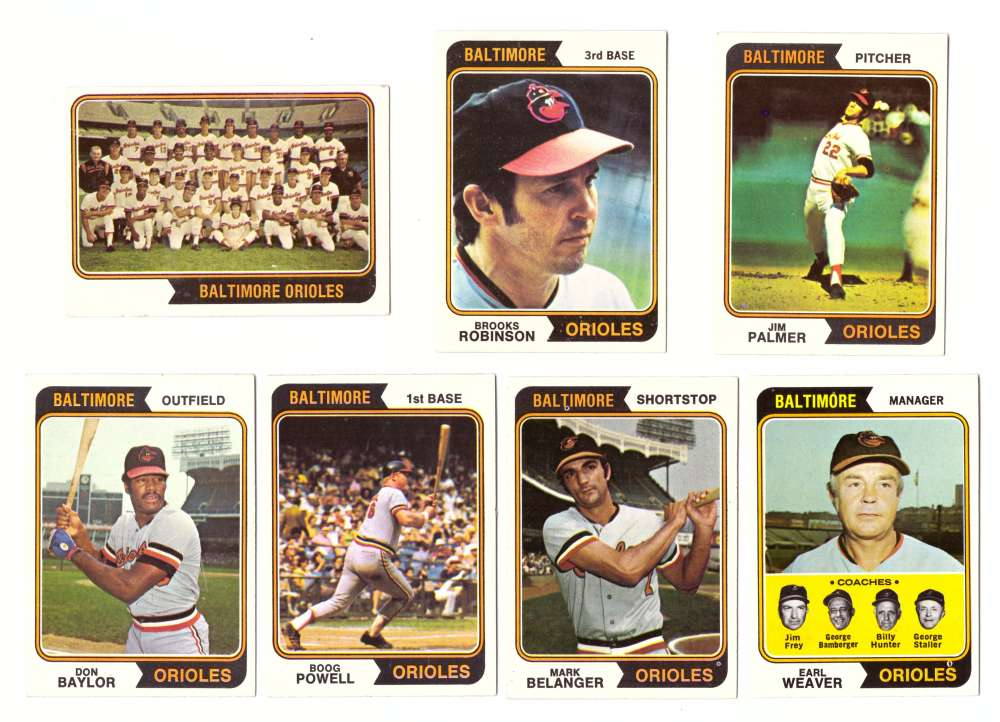 1974 Topps Team Set - BALTIMORE ORIOLES (D)