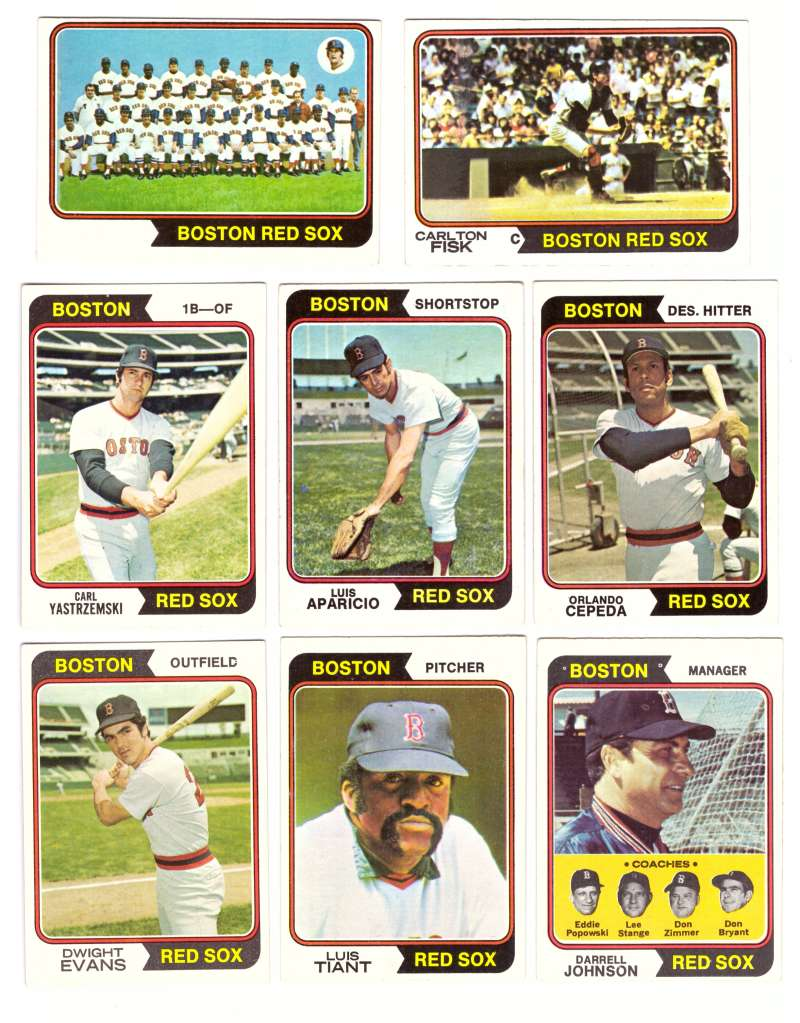 1974 Topps Team Set - BOSTON RED SOX (D)