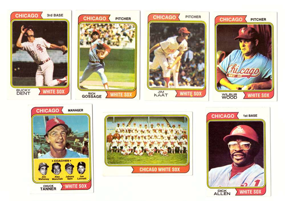 1974 Topps Team Set - CHICAGO WHITE SOX (D)