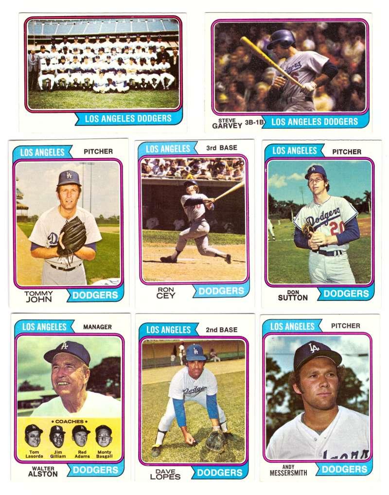 1974 Topps Team Set - LOS ANGELES DODGERS (D)