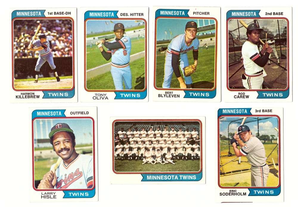 1974 Topps Team Set - MINNESOTA TWINS (D)