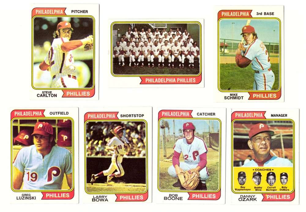 1974 Topps Team Set - PHILADELPHIA PHILLIES (D)