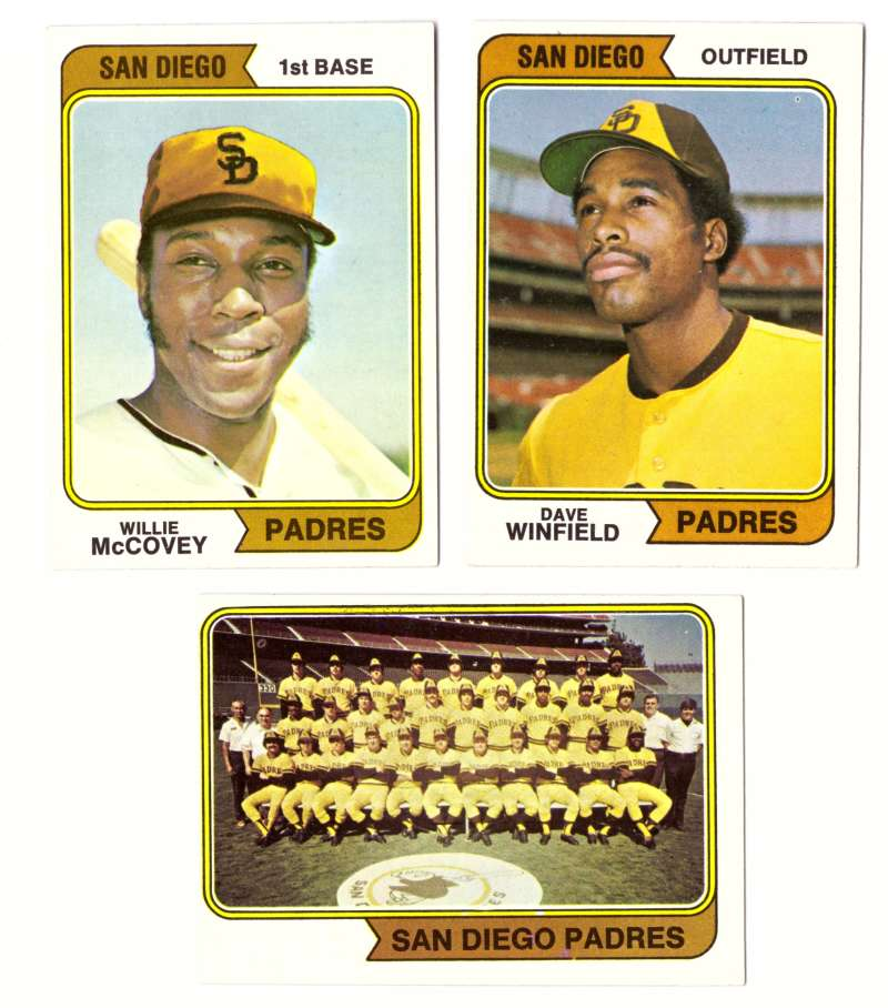 1974 Topps Team Set - SAN DIEGO PADRES (D)