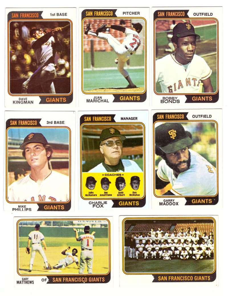 1974 Topps Team Set - SAN FRANCISCO GIANTS (D)