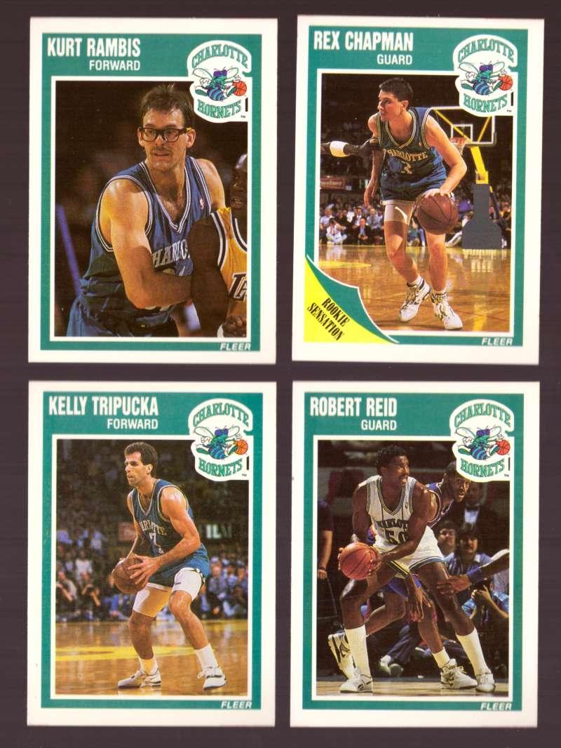 1989-90 Fleer Basketball Team Set - Charlotte Hornets