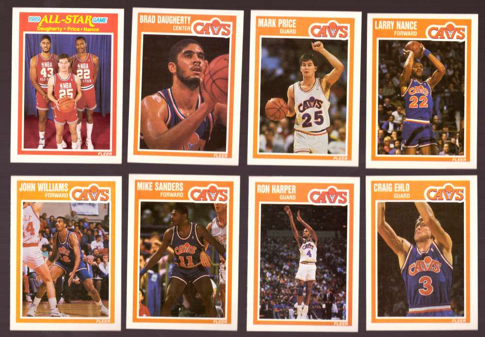 1989-90 Fleer Basketball Team Set - Cleveland Cavaliers