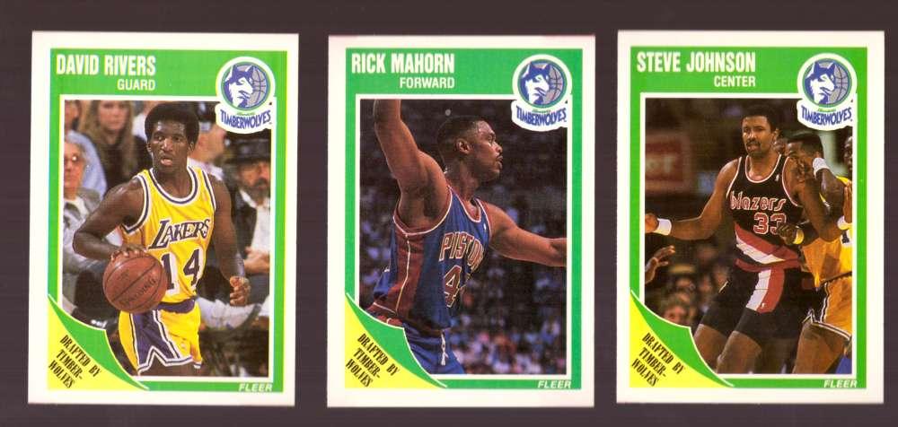 1989-90 Fleer Basketball Team Set - Minnesota Timberwolves
