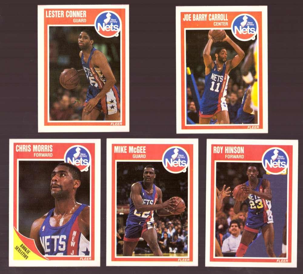 1989-90 Fleer Basketball Team Set - New Jersey Nets