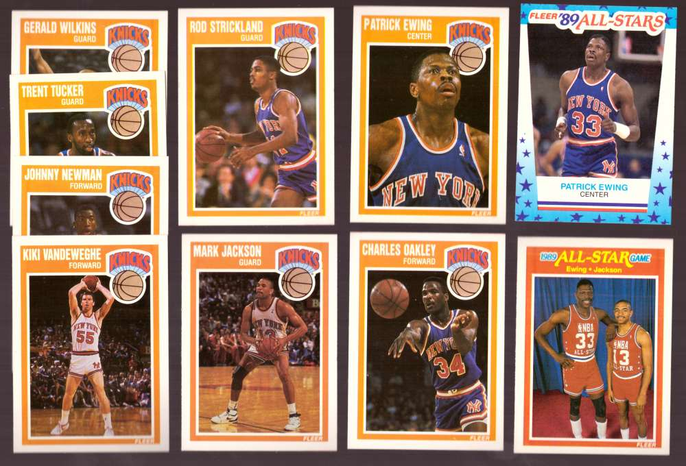1989-90 Fleer Basketball Team Set w/ Sticker New York Knicks