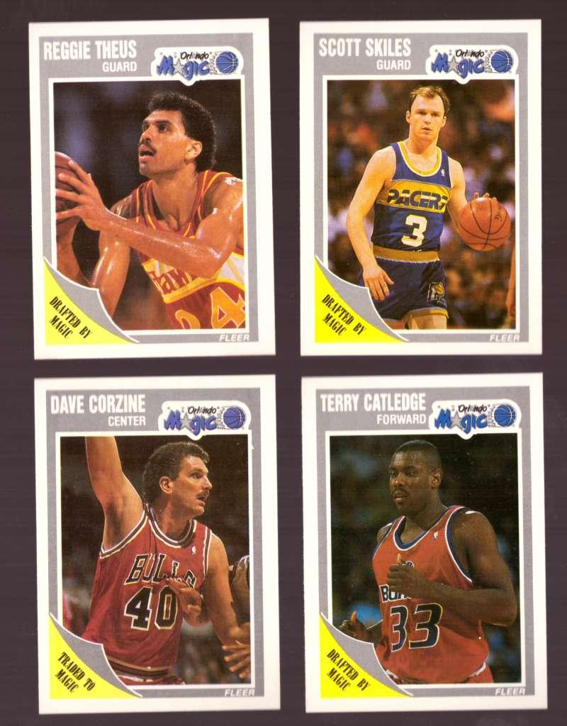 1989-90 Fleer Basketball Team Set - Orlando Magic