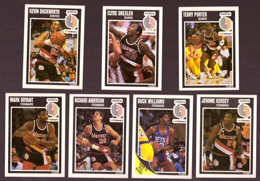 1989-90 Fleer Basketball Team Set - Portland Trail Blazers