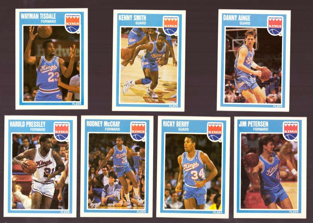 1989-90 Fleer Basketball Team Set - Sacramento Kings