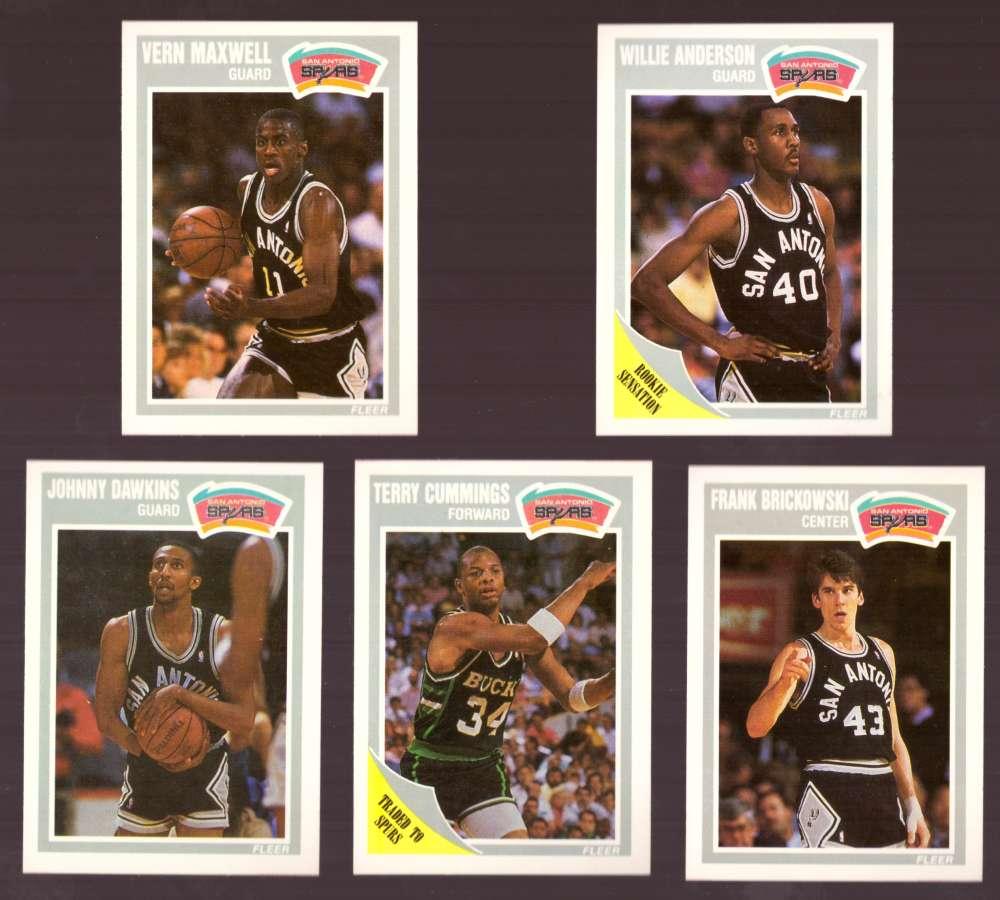 1989-90 Fleer Basketball Team Set - San Antonio Spurs