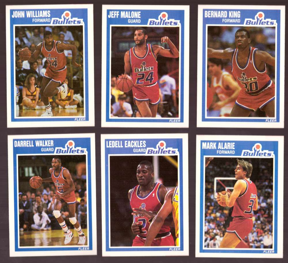 1989-90 Fleer Basketball Team Set - Washington Bullets