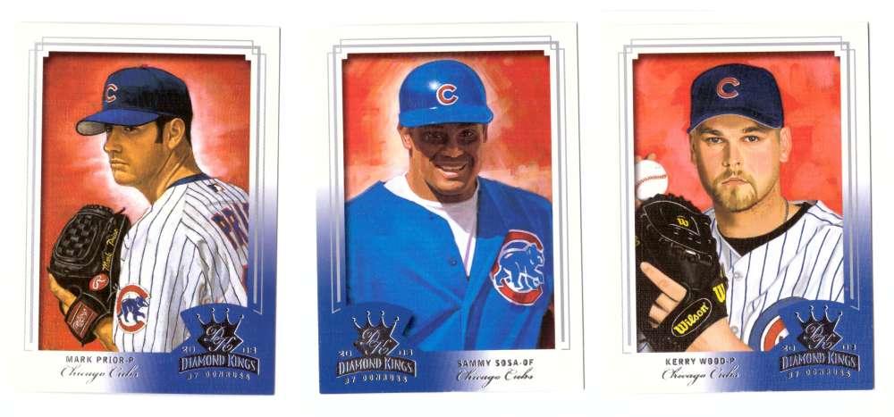 2003 Donruss Diamond Kings (1-150) - CHICAGO CUBS Team Set