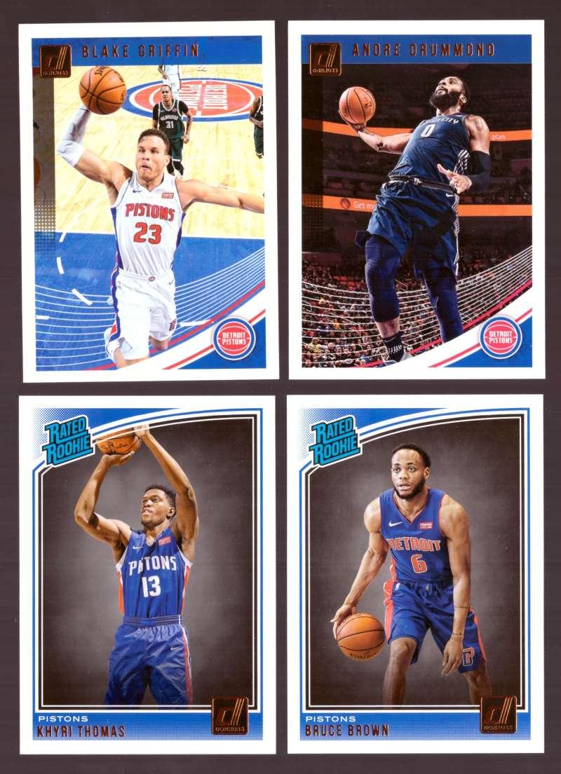 2018-19 Donruss Basketball Team Set - Detroit Pistons (7 Cards)