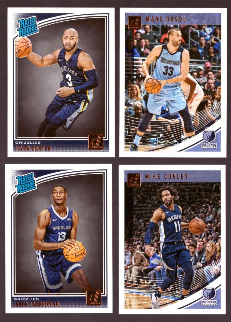 2018-19 Donruss Basketball Team Set - Memphis Grizzlies (7 Cards)