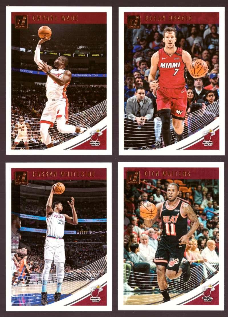 2018-19 Donruss Basketball Team Set - Miami Heat (5 Cards)